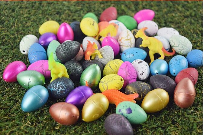 10pcs/lot  20pcs/lot  Magic Water Growing Egg Hatching Colorful Dinosaur Add Cracks Grow Eggs Cute Children Kids Toy For Boys