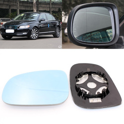 Dla Volvo S80 2004 2015 widok z boku drzwi lustro niebieskie szkło z podstawą podgrzewana 1 para w Lusterko i pokrowce od Samochody i motocykle na