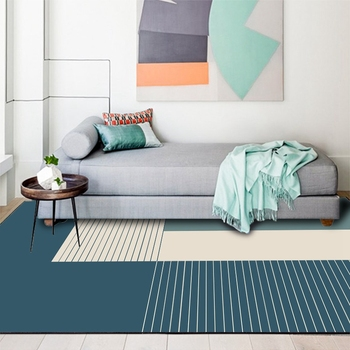 alfombras azules de la sala Alfombra De Rayas Blancas Azules Para Sala De Estar Alfombra