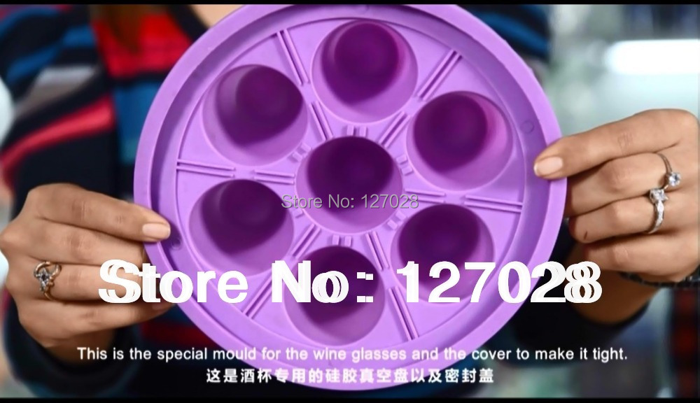ФОТО Wtsfwf Freeshipping High Quality Rubber Slicone Clamp Mold For Glass Goblet For 3D Sublimation Heat Press Transfer Machine