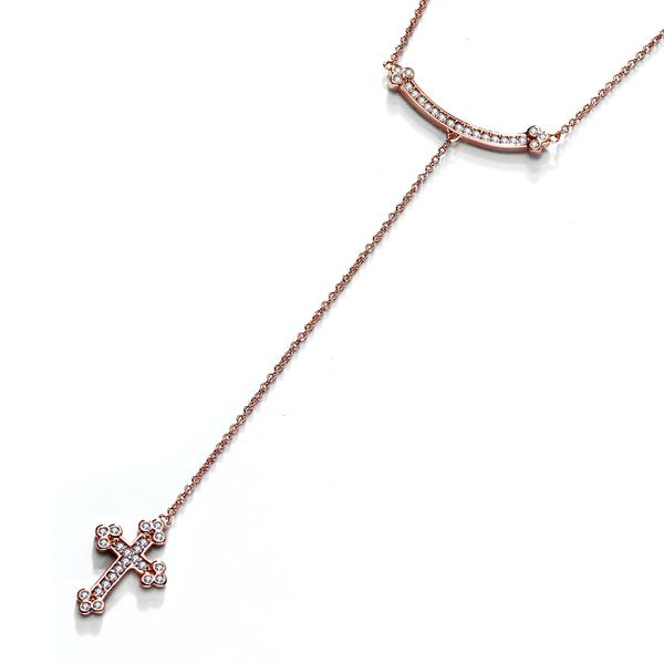 Rose gold color cross pendant chain necklace for women wholesale hot rose gold color cross pendant chain necklace for women wholesale hot fashion pendants jewelry nice elegant necklaces pendants in pendants from jewelry aloadofball Choice Image