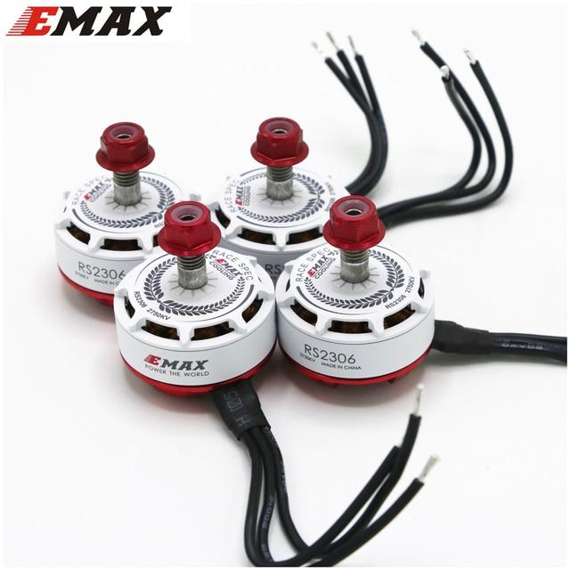 4pcs/lot EMAX RS2306 2400KV 2550KV 2750KV Motor for FPV RACER Quadcopter Kvadrokopter RC Drone Aircraft