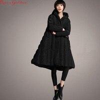 jaqueta feminina nylon 2019 loose women's casual style thick down jacket new winter coat large size