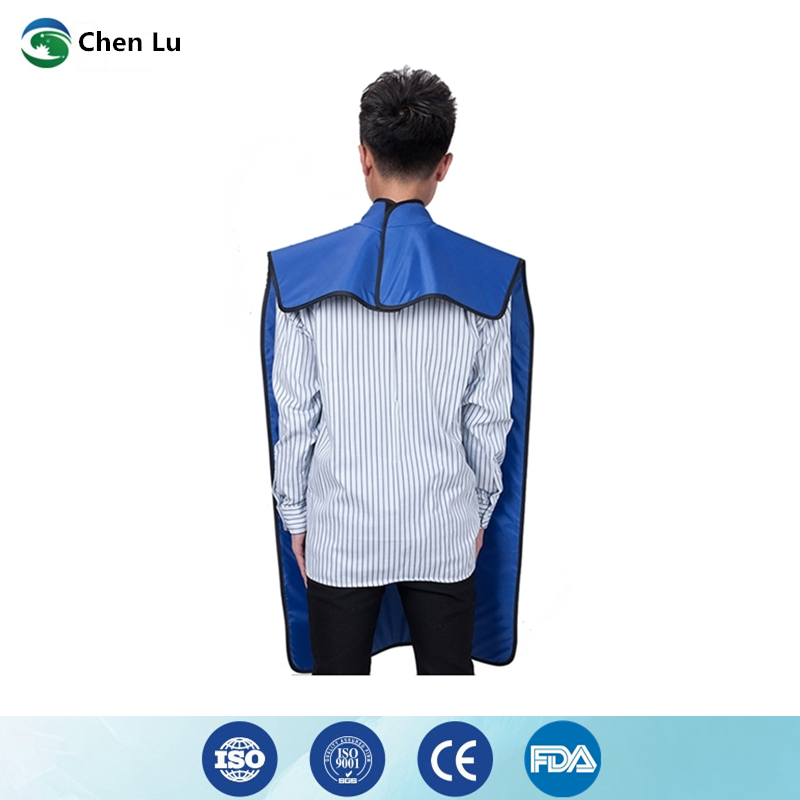 Image 4 - Direct Selling Medical uses of ionizing radiation protection 0.35mmpb high collar lead clothing x ray protective dental apron-in Safety Clothing from Security & Protection