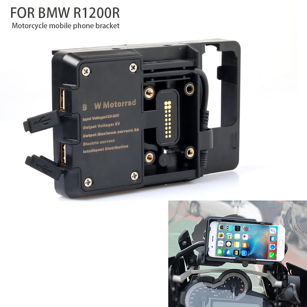 Popular Brand For Bmw R1200gs Lc&adventure 2014 2015 2016 2017 For S1000xr R1200rs Motorcycle Usb Charger Mobile Phone Holder Stand Bracket Frames & Fittings Motorcycle Accessories & Parts