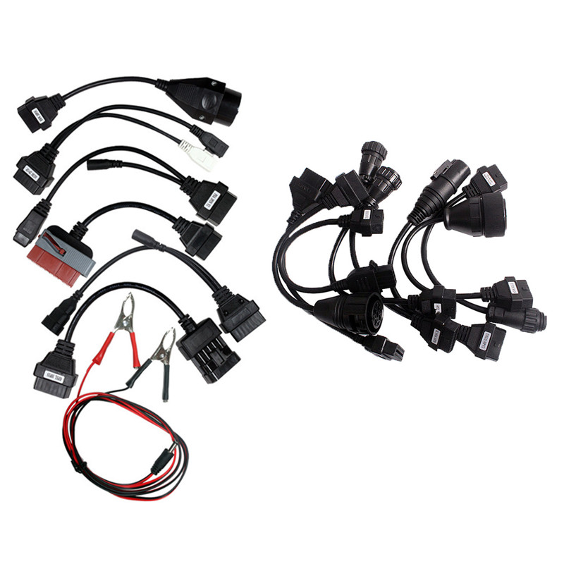 OBD2 OBDII Full Set Car Cables Scan 8 pcs Car adapter Diagnostic tool Connector Cable For TCS CDP Pro multidiag pro MV diag WOW