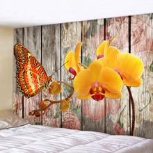 XIANYUNHE 3D Butterfly Flower Print Tapestry Mandala Tapestry Boho Round Beach Towel Toalla Sunblock Blanket Bohemian Yoga Mat autumn flower mandala print round beach throw