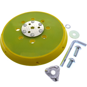 Image 2 - 6 Inch 150mm Sanding Pad Sander Backing Pad Hook and Loop with Side Holes Power Tools Accessories