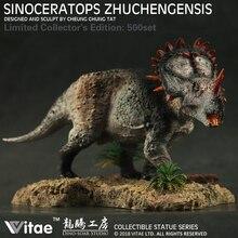 السيرة الذاتية الجوراسي عصور ما قبل التاريخ الحيوان الصيني ديناصور Sinoceratops Zhuchengensis جامعي الراتنج نموذج 1:35
