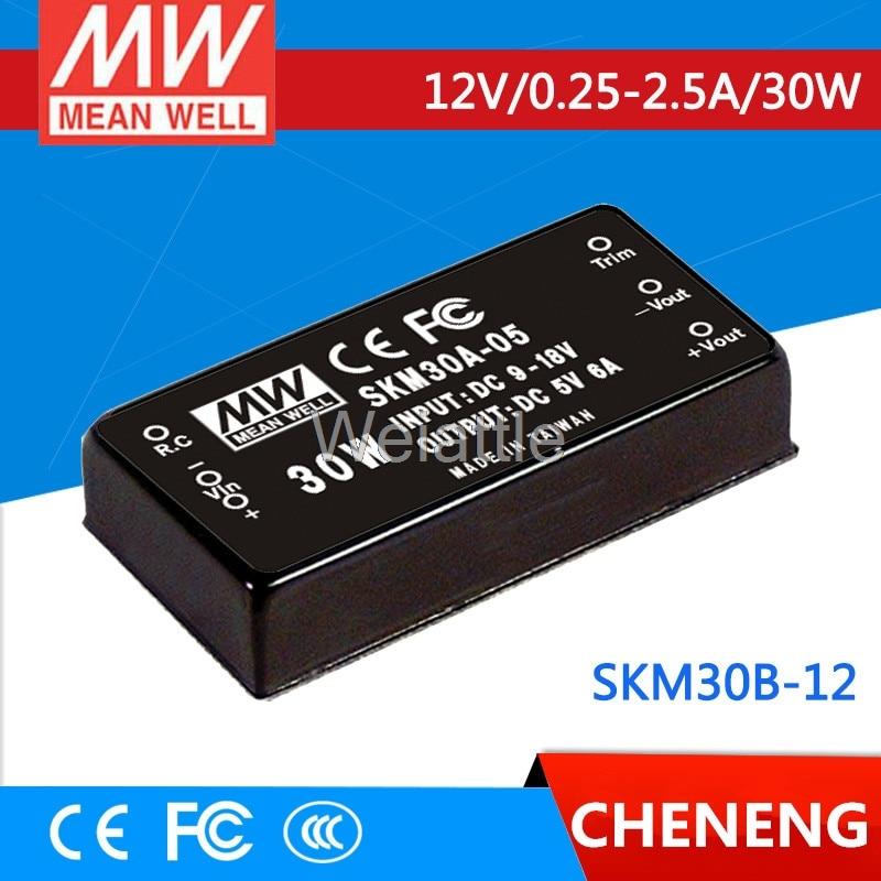 цена на MEAN WELL original SKM30B-12 12V 2.5A meanwell SKM30 12V 30W DC-DC Regulated Single Output Converter