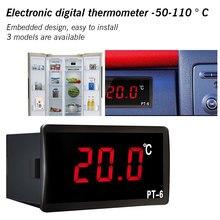 купить Digital Car Thermometer Vehicle Temperature Meter Monitor 12V 24V 110V Automotive Thermometer -50-110℃ дешево