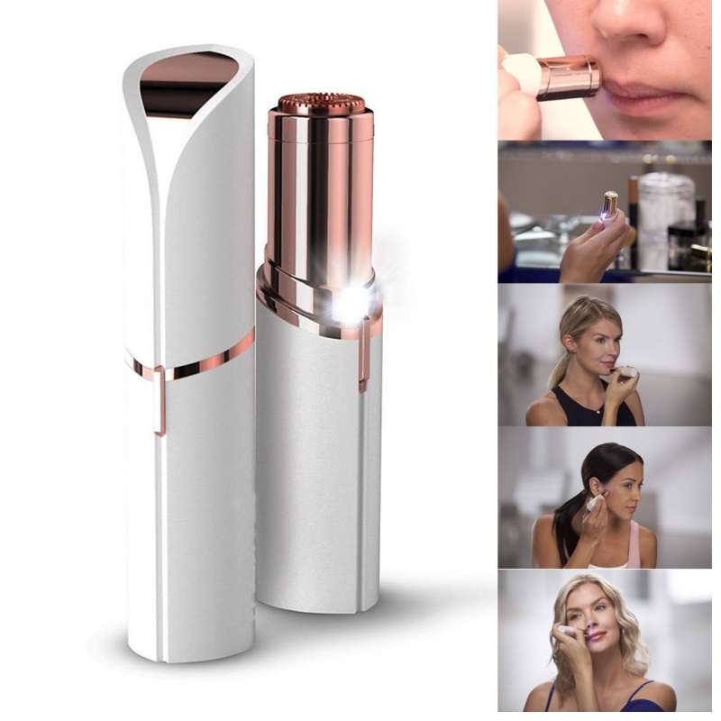 Mini Electric Body Facial Hair Remover Flawless Face Depilator Fashion Removal Body Face Neck Leg Hair Remover deep face cleansing brush facial cleanser 2 speeds electric face wash machine