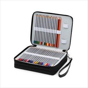 Image 3 - 革ペンケースかわいい estuches 女子高生鉛筆ケース素材アブラソコムツペンバッグボックス 124 穴 estuches lapices escolares