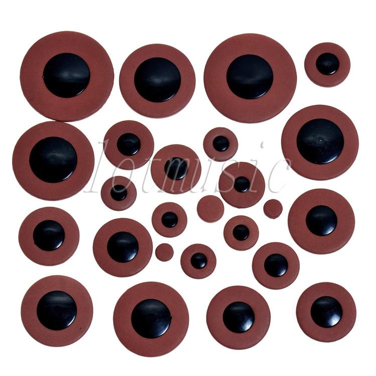 woodwind 25 peças substituição almofadas couro peças tamanho