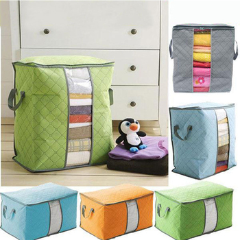 Large waterproof Non-Woven Family Save Space  Bed Under Closet Storage Box Clothes Divider Organiser Quilt Bag Holder Organizer