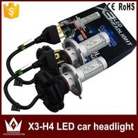 GuangDian Car Accessories Headlight High Quality 1 Set X3 H4 9003 HB2 Hi Low Dual Beam
