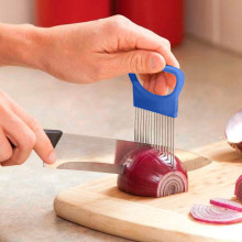 TENSKE томатный лук овощи слайсер режущий держатель для помощи руководство для нарезки безопасная вилка* 30 hogar cocina кухонная утварь