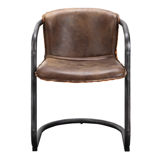 Hopper Leather Armed Dining Chair - Set of 2