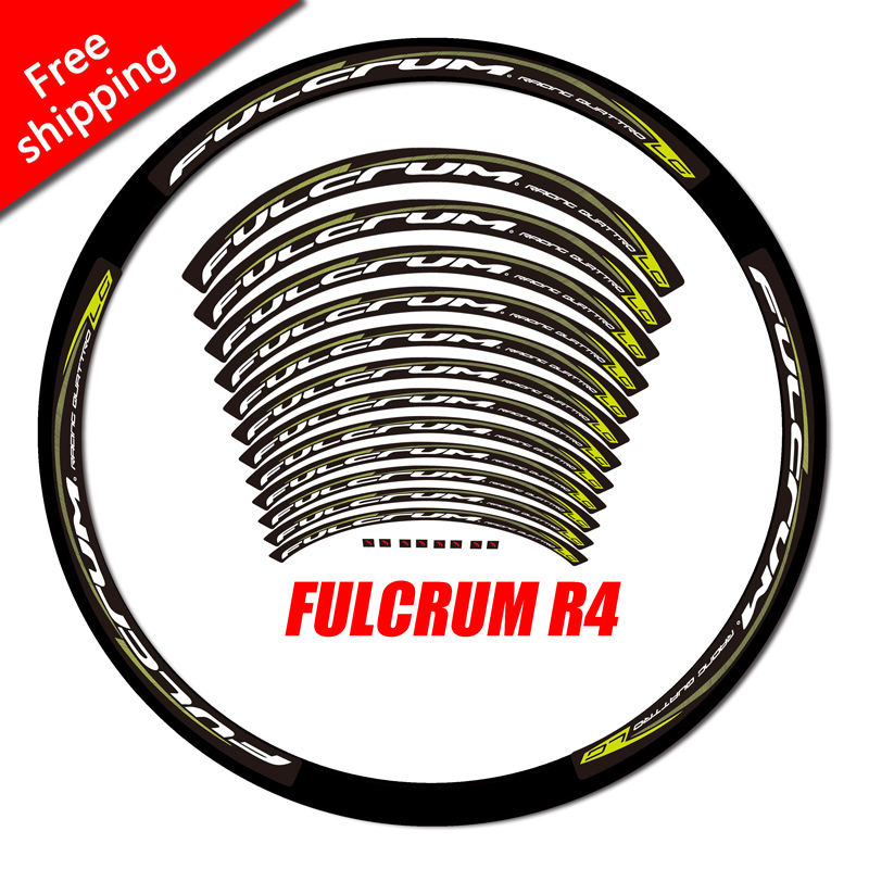 Fulcrum r4 Racing Quattro LG 2017 Carbon road bicycle wheelset rim decals stickers suitable for 30mm 35mm 38mm rim free shipping
