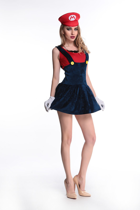 Adult Womenu0027s Super Mario Luigi Brothers Fancy Dress Ladies Super Mario Costume Halloween Cosplay Fancy Dress-in Movie u0026 TV costumes from Novelty u0026 Special ...  sc 1 st  AliExpress.com & Adult Womenu0027s Super Mario Luigi Brothers Fancy Dress Ladies Super ...