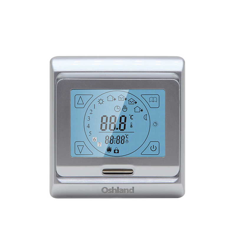 Free Shipping Silver Color Digital Underfloor Heating Thermostat 16A Weekly Programmable Touch Screen Temperature Controller