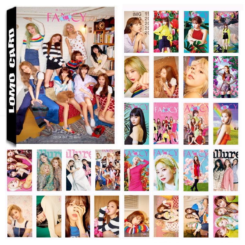 30Pcs/Pack KPOP TWICE Girls 08 Fancy Album HD Photo Card PVC Cards Self Made LOMO Card Photocard