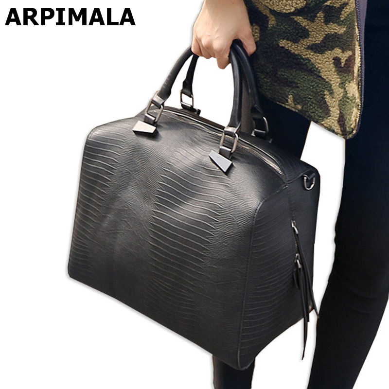 ФОТО ARPIMALA 2017 Big Luxury Handbags Women Bag Women Messenger Bag Leather Snake Handbag Famous Brand Designer Tote Ladies Hand Bag