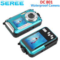 Seree Double Screens Waterproof Shockproof Digital 24MP Camera Dual Full Color LCD Displays Camcorder FHD 1080p