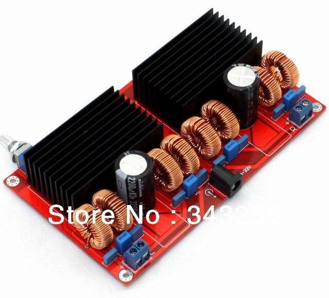 Бесплатная Доставка Параллельный TDA7498 2.0 усилитель мощности доска (200 Вт X 200 Вт) D Класс Усилителя Доска, можно подключить 3 ом динамик