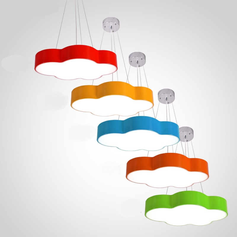 Children lamp color cloud chandelier simple modern led bedroom room lamp creative personality kindergarten playground lamp ET78 smile cloud led wall lamp