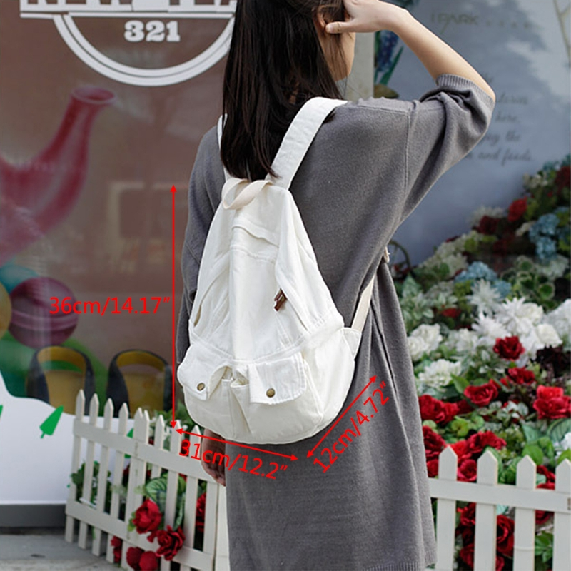 Women Canvas Backpacks School Bag 1019A Girls Bookbag Travel Rucksack Shoulder Bags цена