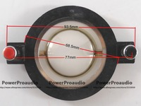 Replacement 8 Ohm Diaphragm Mylar 34 4mm Voice Coil Push Down Round Terminals Flat Wire CCAR