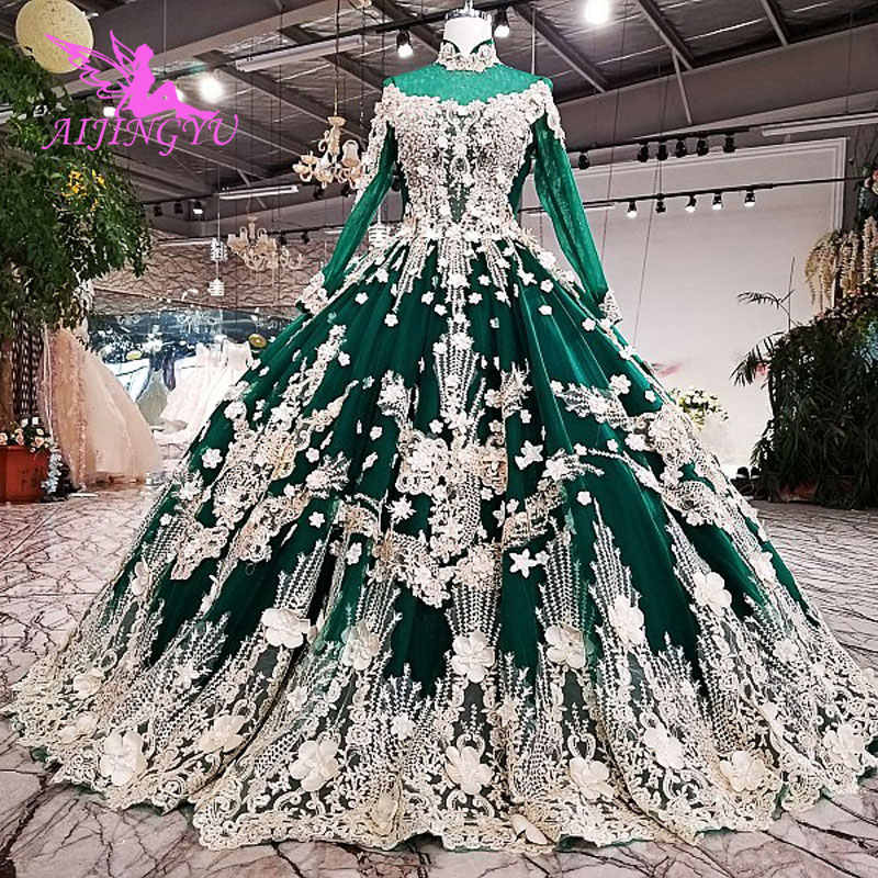AIJINGYU Wedding Gowns Long Dresses Maternity 2018 Cheap Beautiful Quality Plus Size Gown For Bride Moroccan Wedding Dress