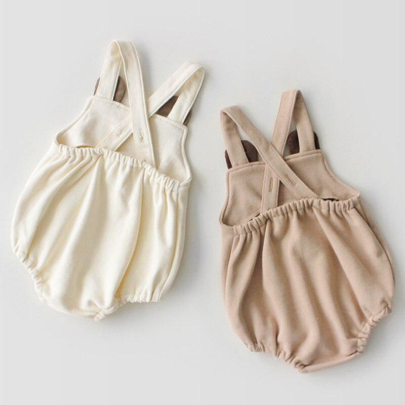Image 5 - Odzież niemowlęca zestaw wiosna jesień dziecięcy pajacyk bawełniany + kapelusz dla dzieci dwa kawałki garnitury dla niemowląt odzież garniturKombinezonyMatka i dzieci -