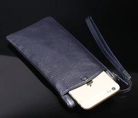 Strap Hand Card Wallet Genuine Cow Leather Mobile Phone Case Pouch For Nokia 6 Microsoft Lumia