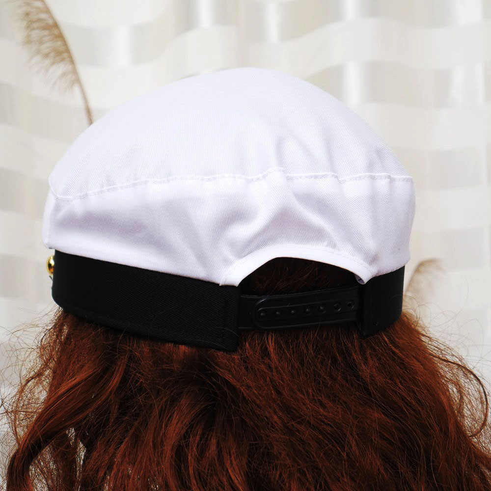 703bf8ade6bfe ... 1 PC Military Nautical Hat White Yacht Captain Hat Navy Cap Marine Skipper  Sailor Cap Costume