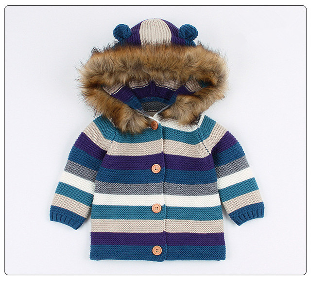cbaf532fcfef Baby Girls Sweater Autumn Toddler Baby Boys Sweaters Hooded Winter ...