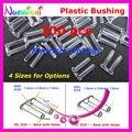 200 piezas 1,4 o 1,5x0,8x7,0mm de plástico de doble casquillo con o sin agujeros de Pin montura gafas accesorios P4040