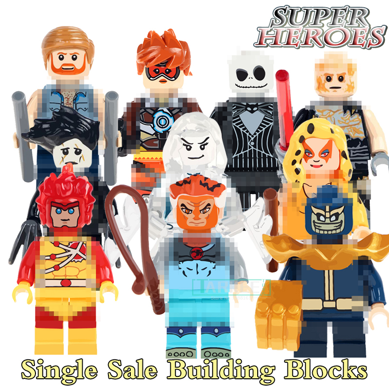 Building Blocks Tigro Cheetara Lion-O Thundercats Pantro Tracer Super Hero Star Wars Bricks Dolls Kids DIY Toys Figures Boy Gift ...