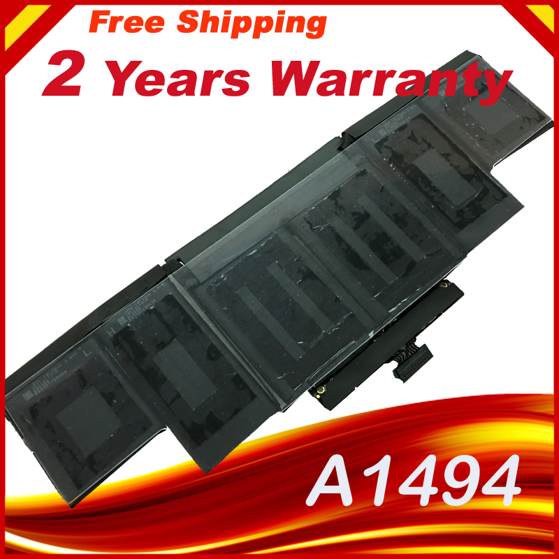 Laptop Battery for Apple A1494 A1398 Me293 Me294 Battery for Macbook Pro Retina Me293 (Late 2013) free shipping a1417 original laptop battery for apple retina a1398 mc975 mc976 me664 me665 10 95v 95wh