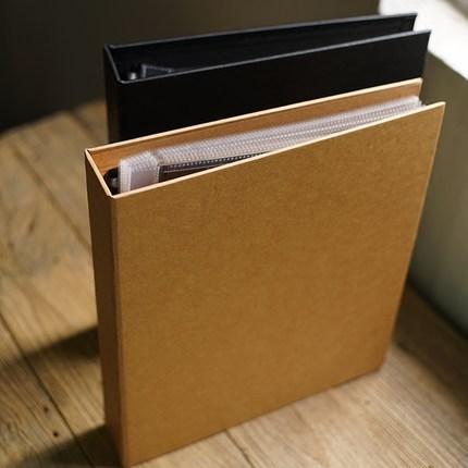 12-Inch Craft Black Cover PP Bag Holder DIY Handmade Album A4 Adventure Foto Book Creative Paste Children Scrapbooking Album Set