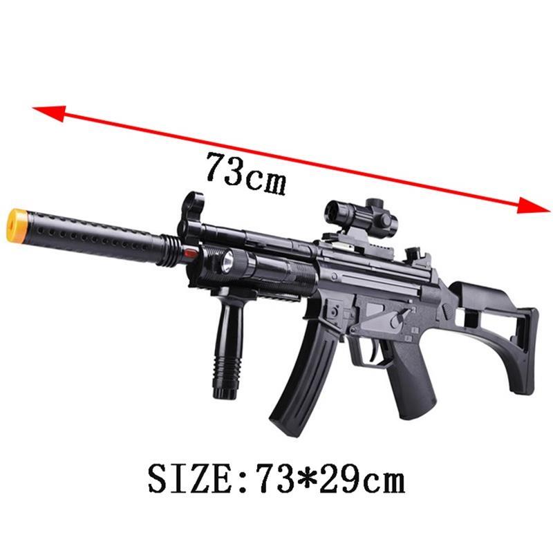 En plastique Machine jouet pistolet Enfants Flash Lumière Infrarouge Musique Garçon D'assaut Vibrations Militaire Mitrailleur Modèle
