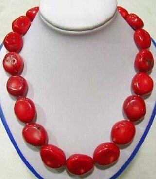 "FREE SHIPPING>>@> Hot sale HOT>>>>>Beautiiful 18"" Tibet Red Coral large beads Necklace"