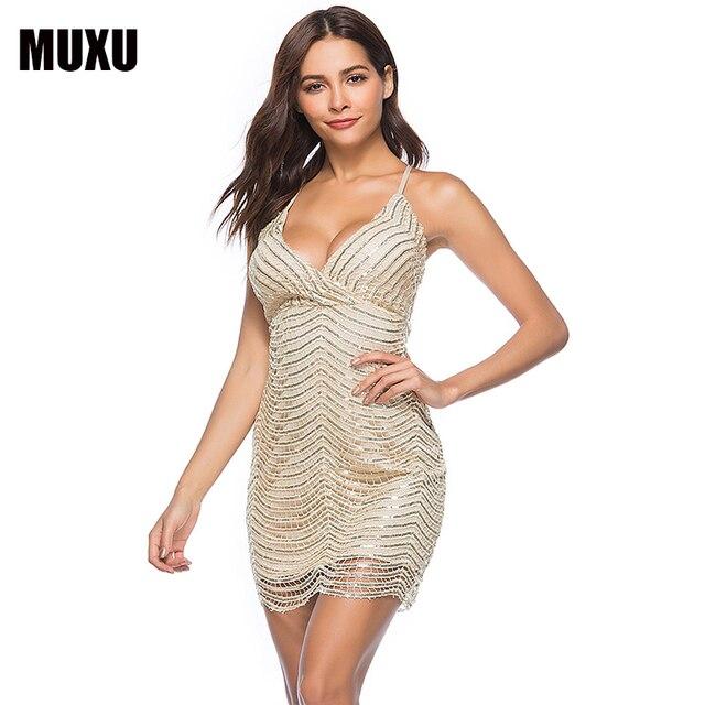 MUXU sexy summer black sexy dress backless sleeveless mesh women plus size sequin  club womens clothing 8b7b69a841b4