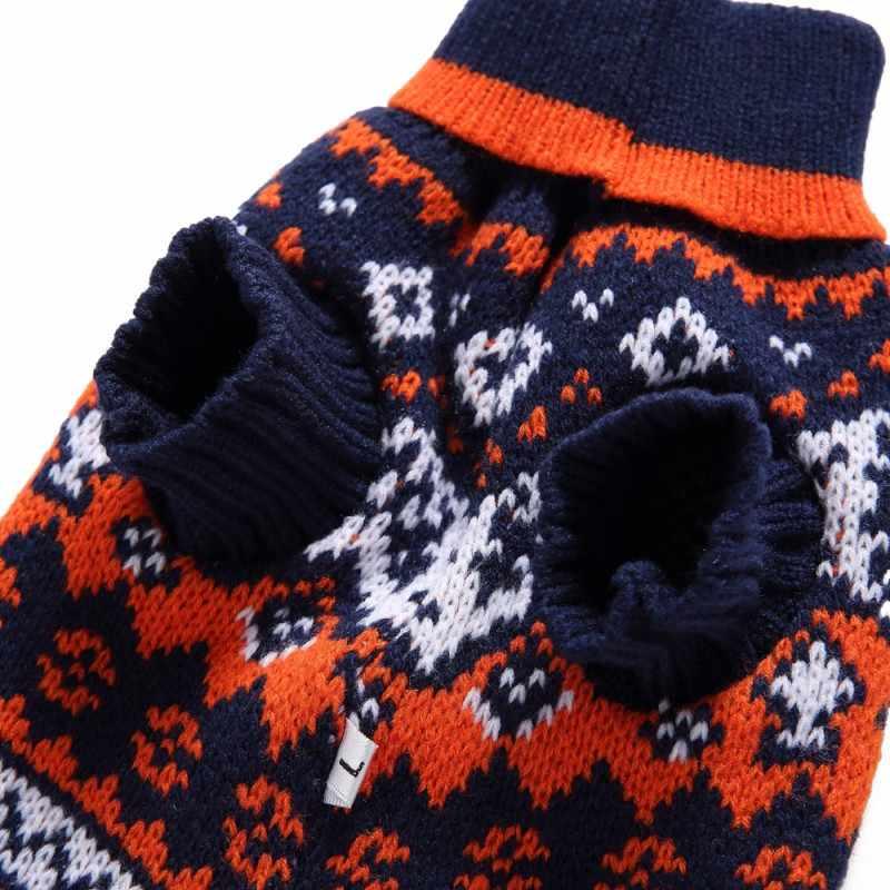 Fair Isle Christmas Sweater.Dog Sweater Christmas Sweaters Pet Holiday Fair Isle Snowflake Pet Sweater Autumn Winter Dog Clothes