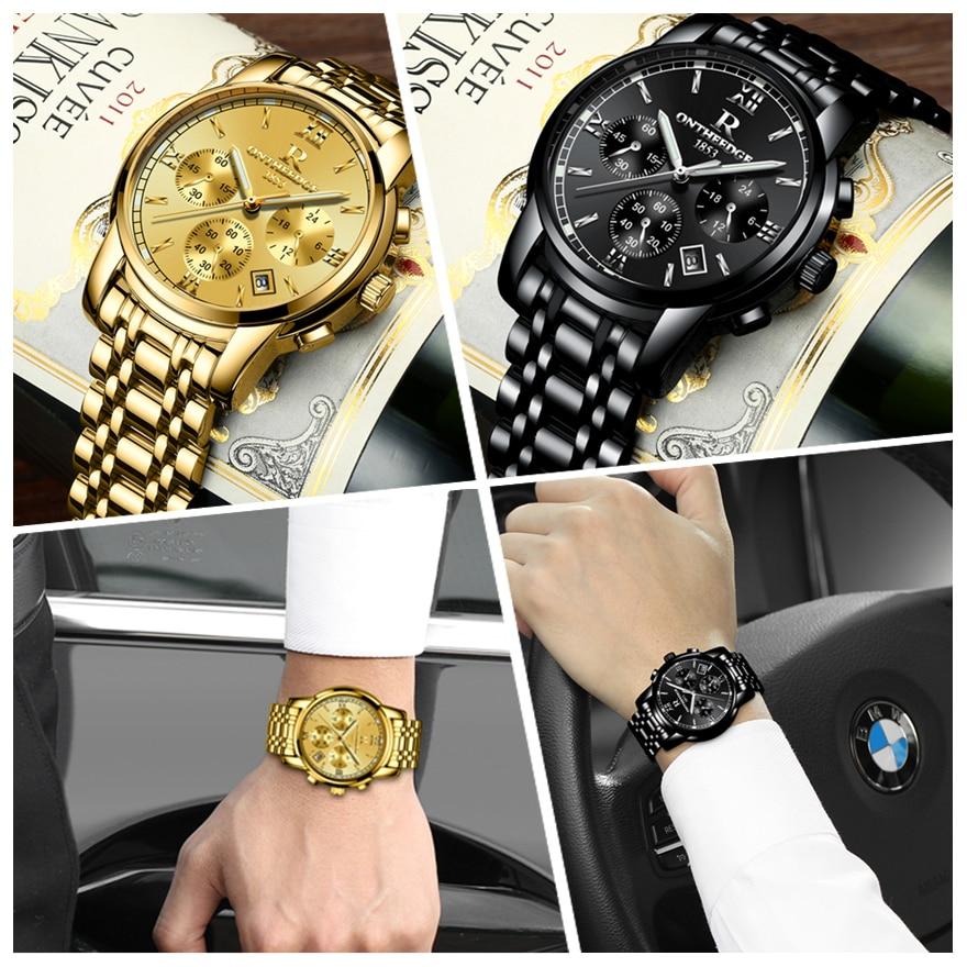 RONTHEEDGE Horloge Heren Horloges Topmerk Luxe Beroemde Polshorloge - Herenhorloges - Foto 5
