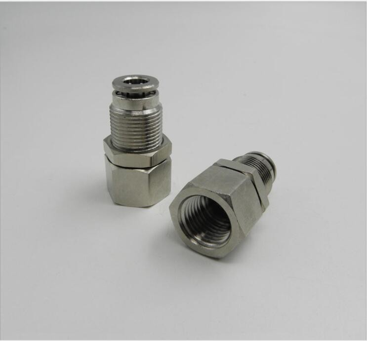 Tube size mm pt thread pneumatic brass bulkhead