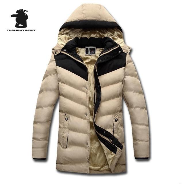 De Los nuevos Hombres de Polar Chaqueta de Algodón Acolchado Ropa de Moda Con Capucha Espesada Acolchado Diseñador de Los Hombres Ocasionales Más Tamaño Abrigos de Invierno D9F151