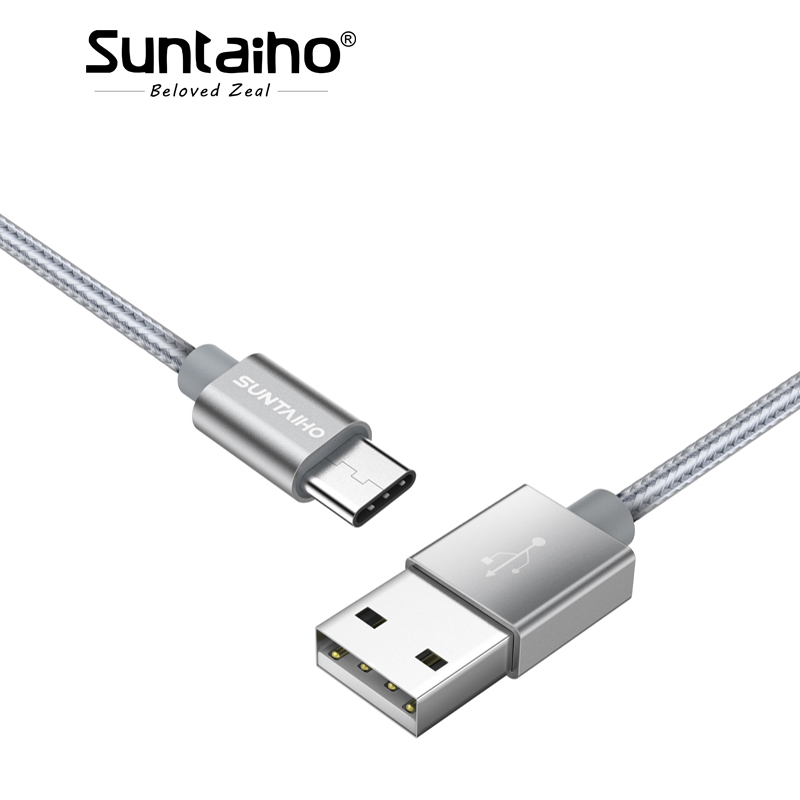 Suntaiho Type C Cable for Samsung S8 plus s9 USB C 3.1 for Huawei P20 Pro Data Sync Fast Charging Cable for XiaoMi mi6 mi5