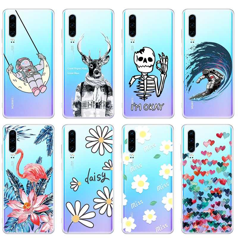 New Case For Huawei P20 Pro P30 Lite P Smart Plus 2019 Silicon Cover Capa For Honor 10 Lite 10i 20i 8X Coque Funda Capa Shell